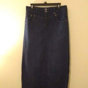 Style & Co Denim Tummy Control Maxi Skirt